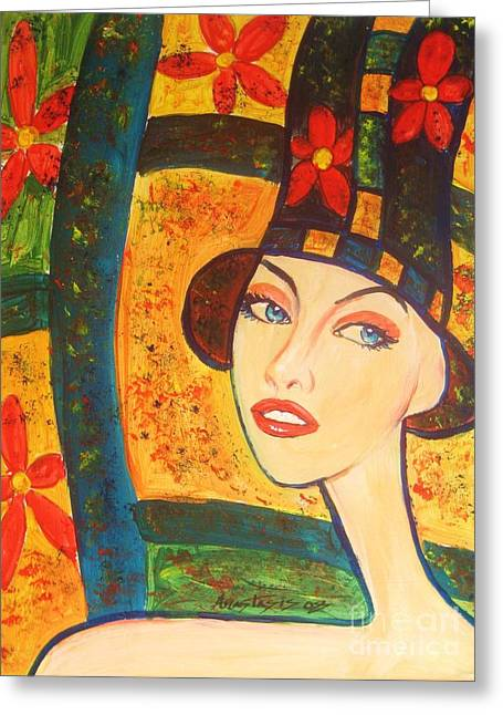 Modigliani Greeting Cards - Spring Is In The Air... Greeting Card by Anastasis  Anastasi