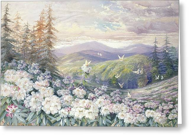 Fluttering Greeting Cards - Spring Landscape Greeting Card by Marian Ellis Rowan