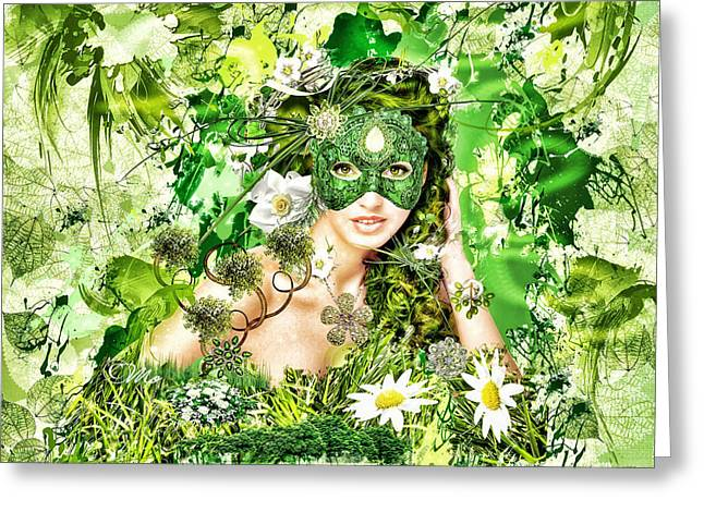 Spring Greeting Card by Mo T