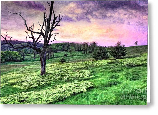 Pasture Framed Prints Greeting Cards - Spring Morning Greeting Card by Dan Carmichael