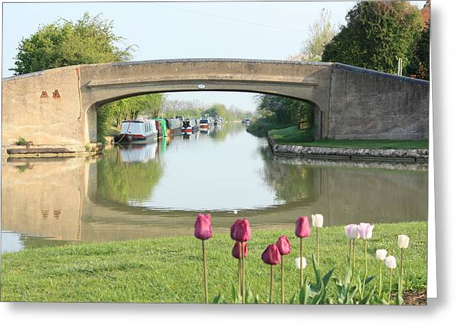 The Hills Greeting Cards - Spring on The Oxford Canal Greeting Card by Linsey Williams