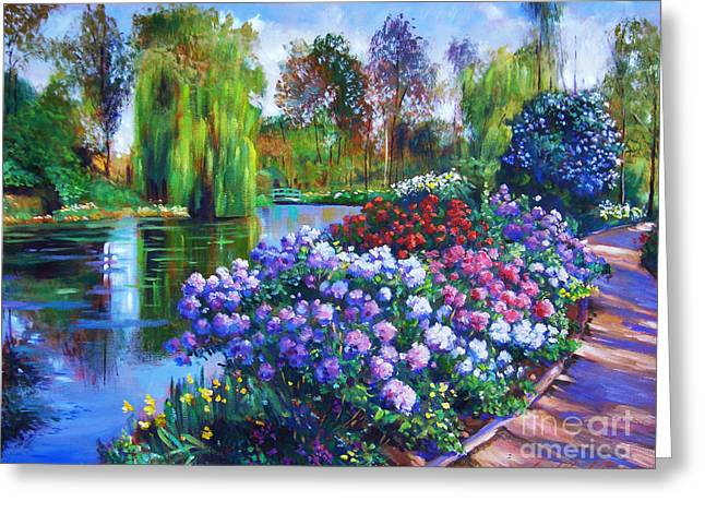 Water Garden Greeting Cards - Spring Park Greeting Card by David Lloyd Glover