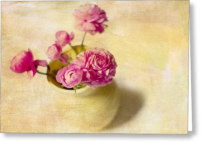 Pink Flowers Greeting Cards - Spring Please Greeting Card by Rebecca Cozart