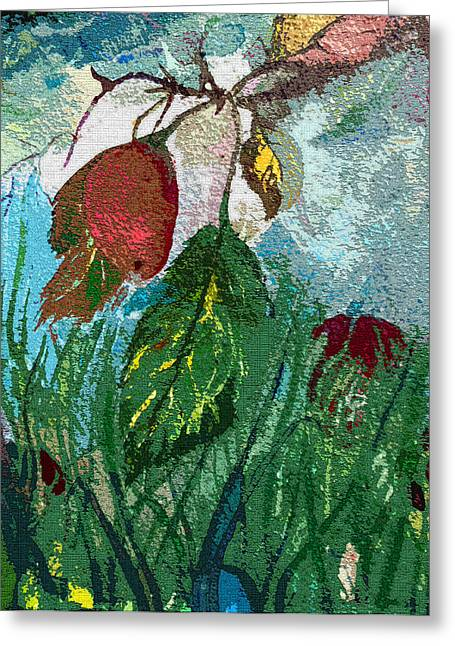 Fruit Tree Art Greeting Cards - Spring Plum Greeting Card by Mindy Newman