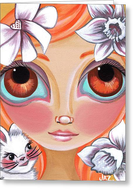 Spring Princess Greeting Card by Jaz Higgins