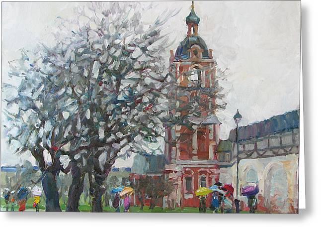 Raining Greeting Cards - Spring rain Greeting Card by Juliya Zhukova