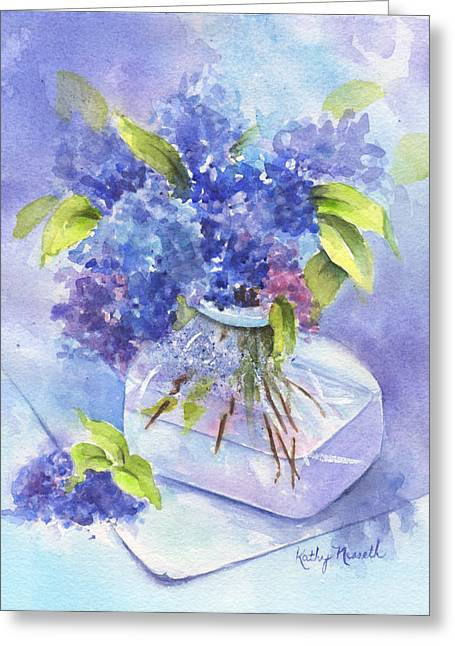 Glass Vase Greeting Cards - Spring Romance Greeting Card by Kathy Nesseth