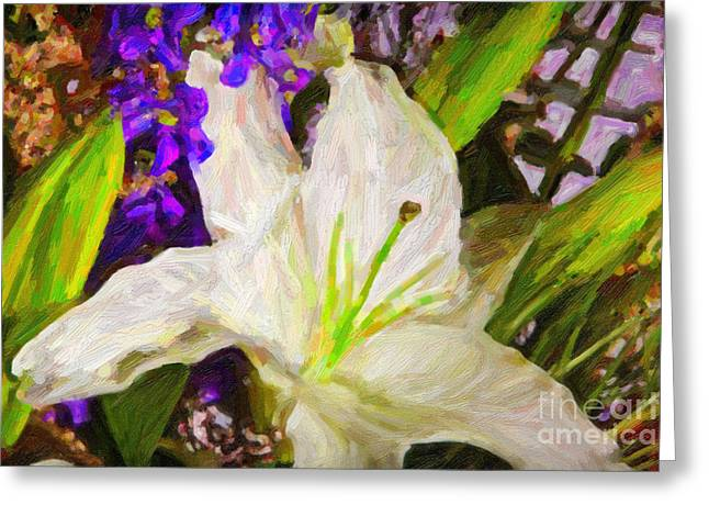 Flowers Stretched Prints Greeting Cards - Spring Slowers Greeting Card by M K  Miller