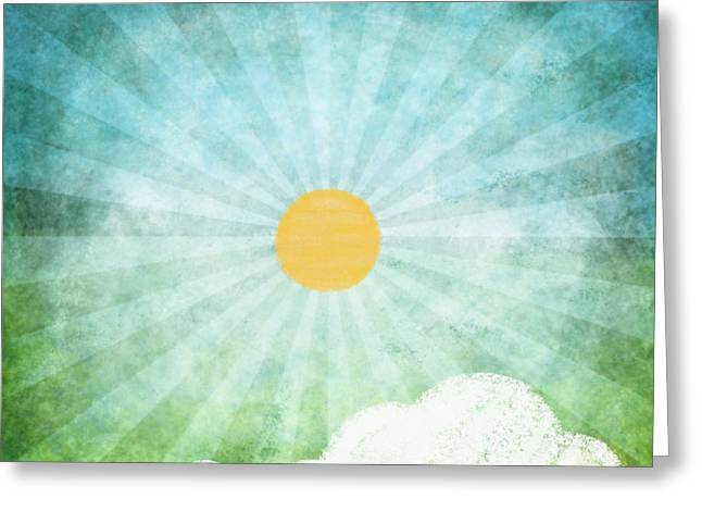 Temperature Greeting Cards - Spring Summer Greeting Card by Setsiri Silapasuwanchai