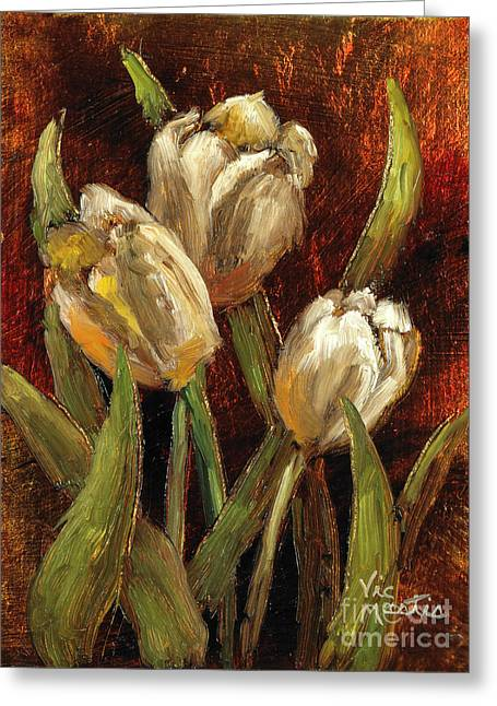 Mo Artist Paintings Greeting Cards - Spring Suprise Greeting Card by Vic  Mastis