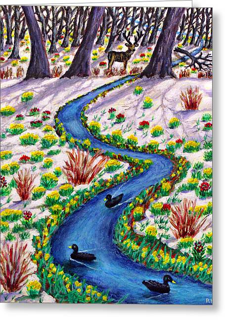 Spring Thaw - Tatton Park Greeting Card by Ronald Haber