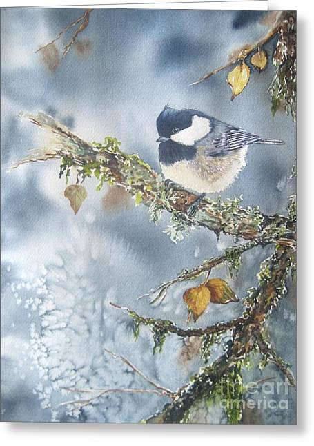 Bird On Tree Paintings Greeting Cards - Spring Thaw Greeting Card by Patricia Pushaw