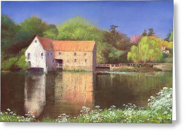 Rural Landscapes Greeting Cards - Springtime at the Mill Greeting Card by Anthony Rule
