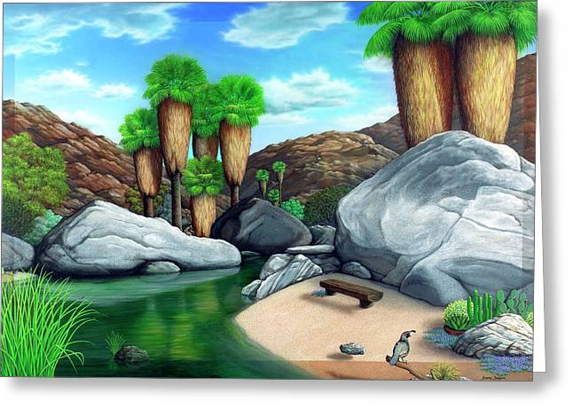 Stream Greeting Cards - Springtime in the Canyons Greeting Card by Snake Jagger