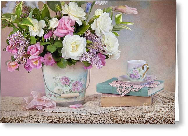 """cheryl Davis"" Greeting Cards - Springtime Pleasure Greeting Card by Cheryl Davis"