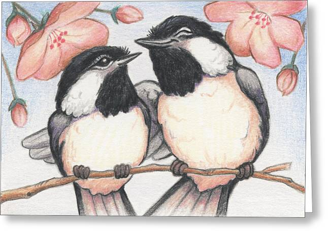 Amy S Turner Greeting Cards - Springtime Sweethearts Greeting Card by Amy S Turner