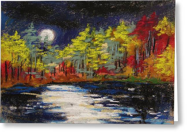 Williams Pastels Greeting Cards - Sprinkling of Moonlight Greeting Card by John  Williams