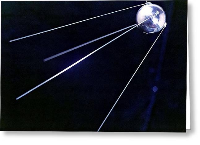 Sputnik Greeting Cards - Sputnik 1, Soviet Spacecraft Greeting Card by Ria Novosti