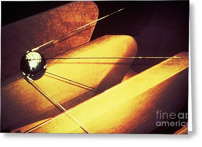 Sputnik Greeting Cards - Sputnik Greeting Card by Science Source