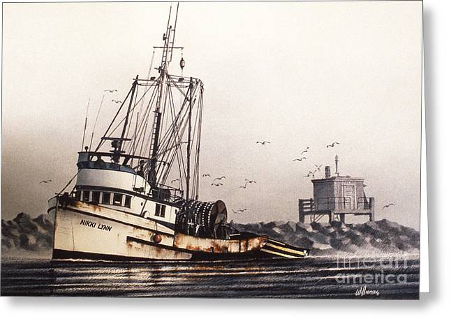 Fishing Art Cards Greeting Cards - Squalicum Harbor Greeting Card by James Williamson