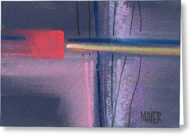 Abstract Geometric Pastels Greeting Cards - Square Abstraction Greeting Card by Donald Maier
