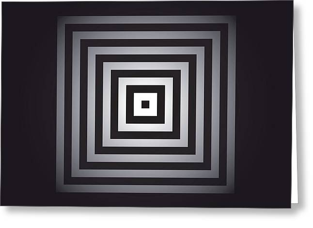 Macrocosm Digital Greeting Cards - Square Pulse V15.2 Greeting Card by Guardians of the Future