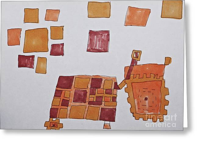 Crimson Drawings Greeting Cards - Square Tracker Greeting Card by Stephanie Ward