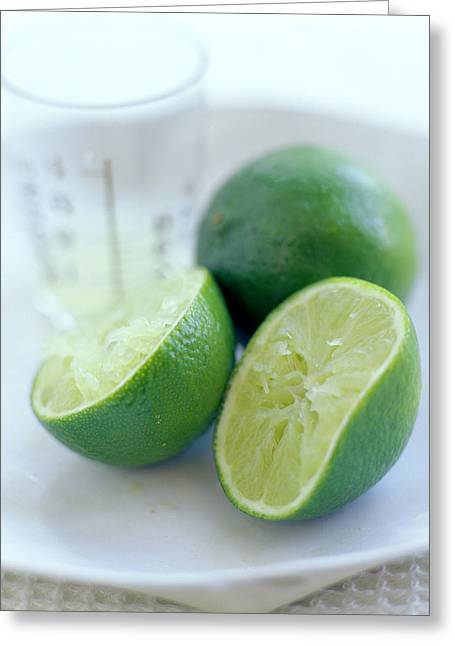 Tangy Photographs Greeting Cards - Squeezed Lime Greeting Card by David Munns