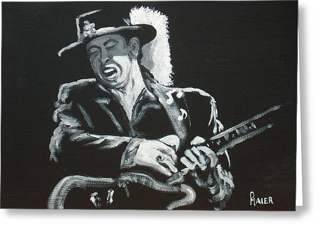 Stevie Ray Vaughn Greeting Cards - Srv Greeting Card by Pete Maier