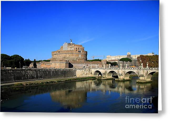 People In Autumn Greeting Cards - St Angel Castle Greeting Card by Stefano Senise