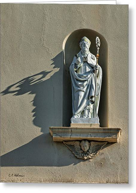 Saint Christopher Photographs Greeting Cards - St. Augustine of Hippo Greeting Card by Christopher Holmes