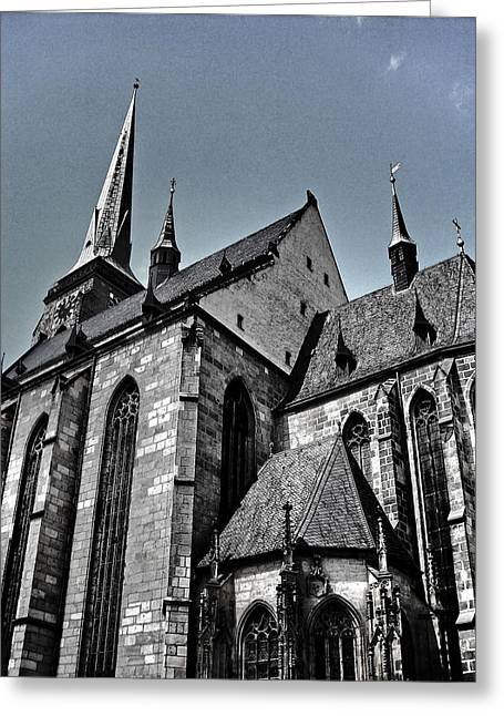 Bier Greeting Cards - St. Bartholomew Cathedral - Pilsen Greeting Card by Juergen Weiss