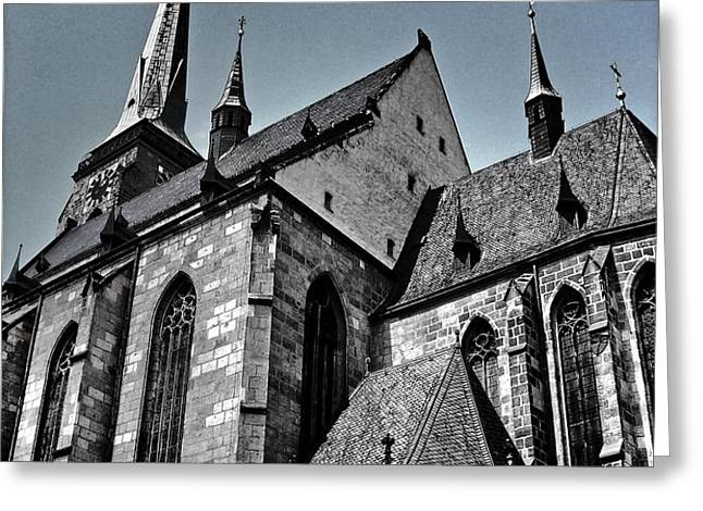 St. Bartholomew Cathedral - Pilsen Greeting Card by Juergen Weiss