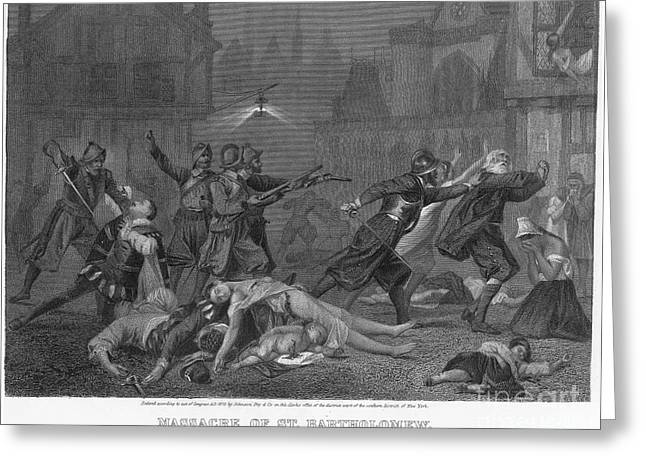 Discrimination Greeting Cards - St Bartholomews Massacre Greeting Card by Granger