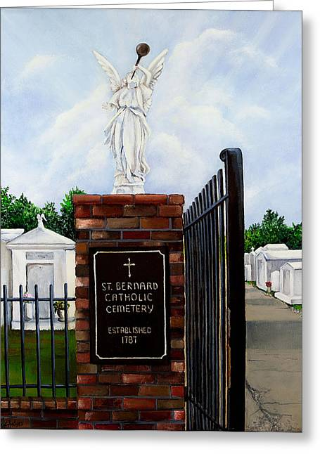 Historic Cemetery Greeting Cards - St. Bernard Historic Cemetery Greeting Card by Elaine Hodges