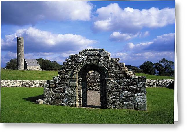 Historic Us Open Greeting Cards - St Brigids Church, Inis Cealtra Holy Greeting Card by The Irish Image Collection