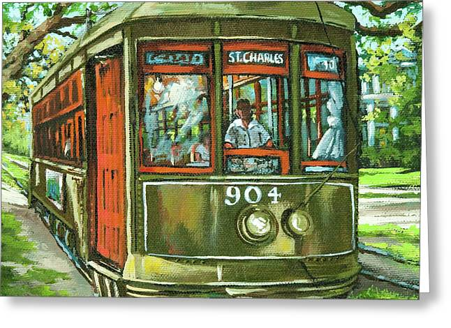 Street Scenes Paintings Greeting Cards - St. Charles No. 904 Greeting Card by Dianne Parks