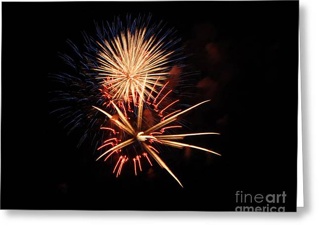 4th July Photographs Greeting Cards - St Clair Fireworks 2 Greeting Card by Grace Grogan