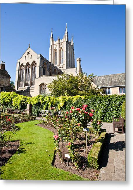 Historic England Greeting Cards - St Edmundsbury Cathedral Greeting Card by Tom Gowanlock