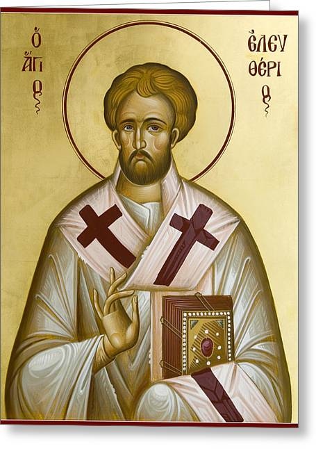 St Eleftherios Greeting Cards - St Eleftherios Greeting Card by Julia Bridget Hayes
