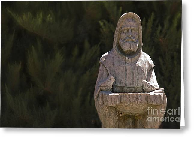 Catherine Greeting Cards - St. Francis Greeting Card by Catherine Fenner