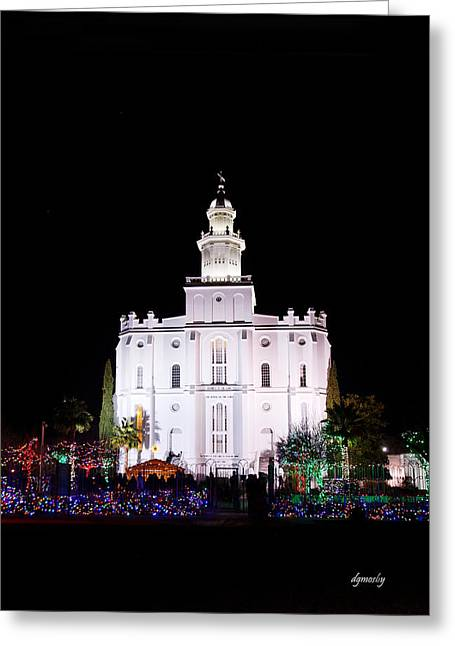 St. George Temple Greeting Cards - St. George Temple 5728 Greeting Card by David Mosby