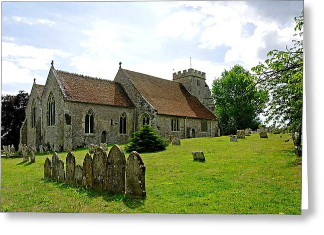 St George's Church at Arreton Greeting Card by Rod Johnson