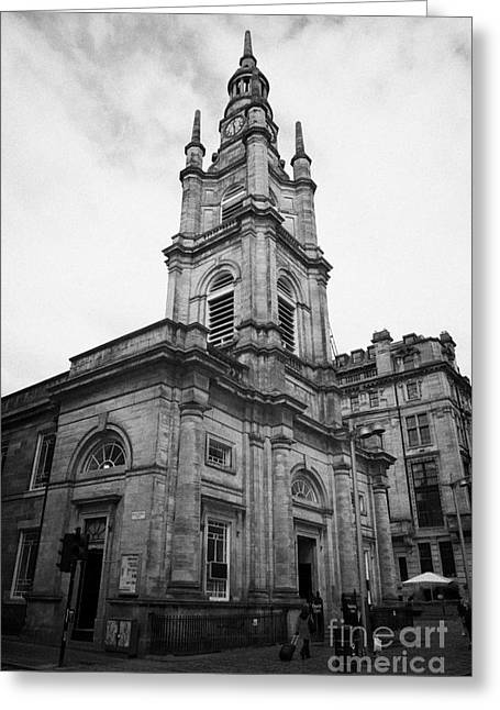 Best Sellers -  - Tron Greeting Cards - St Georges-tron Church Nelson Mandela Place Glasgow Scotland Uk Greeting Card by Joe Fox
