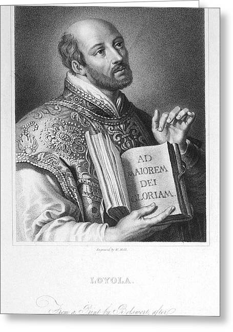 Ecclesiastics Greeting Cards - St. Ignatius Loyola Greeting Card by Granger
