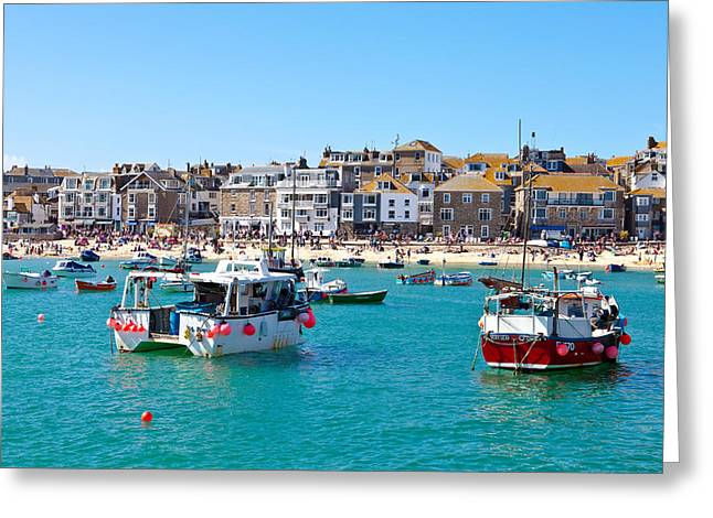 Cornish Beaches Greeting Cards - St Ives Harbour Greeting Card by Tom Gowanlock