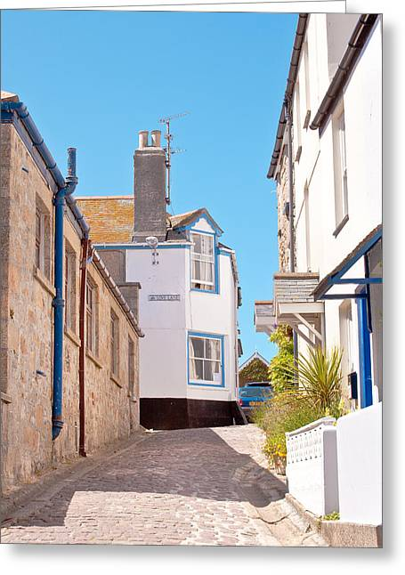 Spring Street Greeting Cards - St Ives Street Greeting Card by Tom Gowanlock