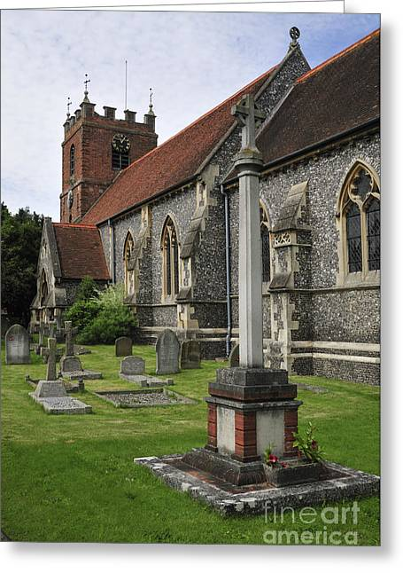 Headstones Greeting Cards - St James the Less Church Greeting Card by Andy Smy