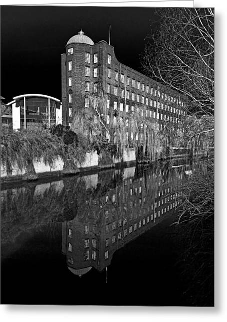 Mill Printing Greeting Cards - St James Works Jarrolds Printing Works Greeting Card by Darren Burroughs