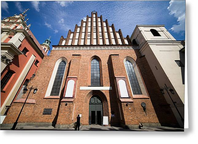 Recently Sold -  - Polish Culture Greeting Cards - St. John Archcathedral in Warsaw Greeting Card by Artur Bogacki